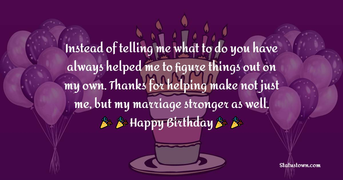 latest Birthday Wishes for Mother in Law