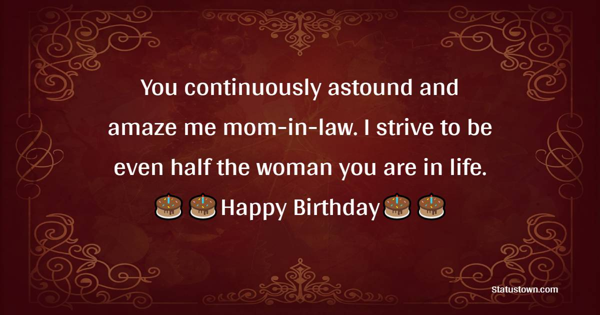Simple Birthday Wishes for Mother in Law