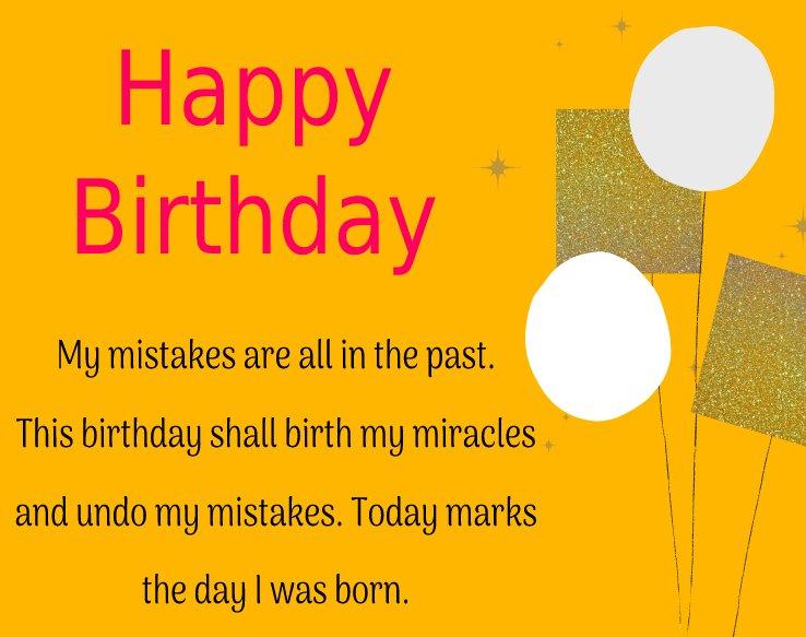 Deep  Birthday Wishes for Myself