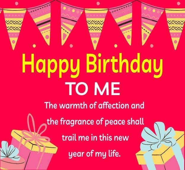 Touching  Birthday Wishes for Myself