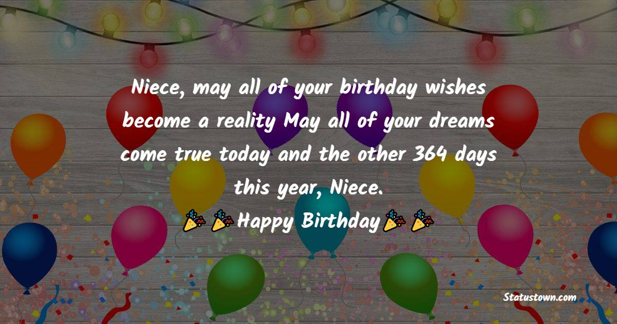Short Birthday Wishes for Niece