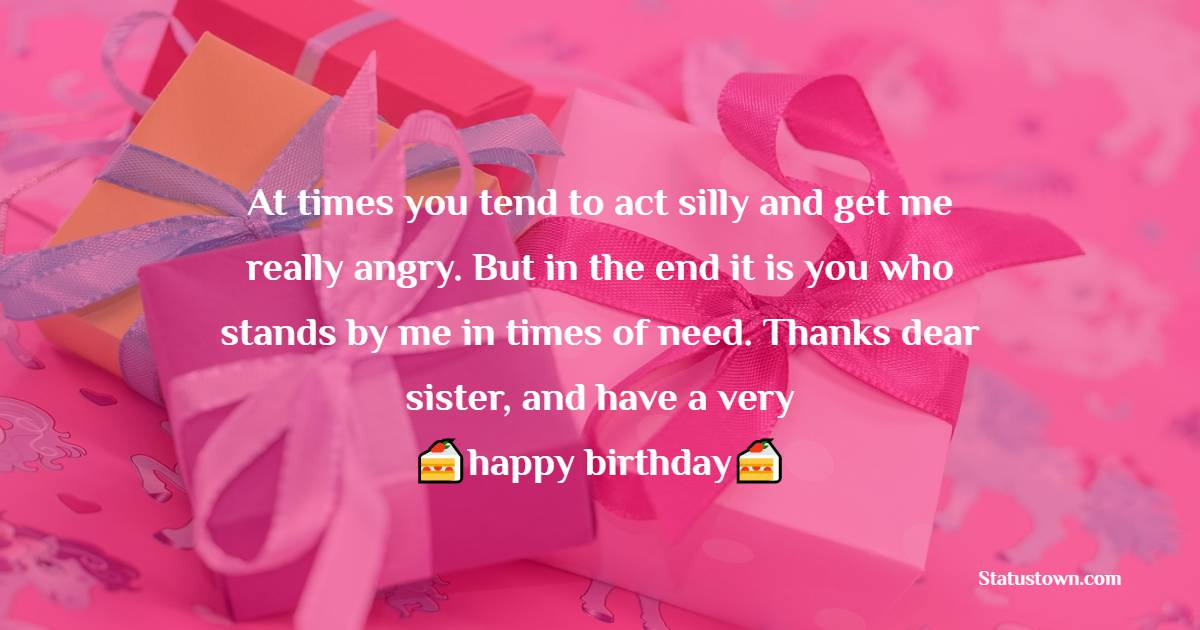 Deep Birthday Wishes for Sister