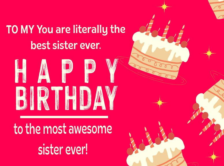 latest Birthday Wishes for Sister