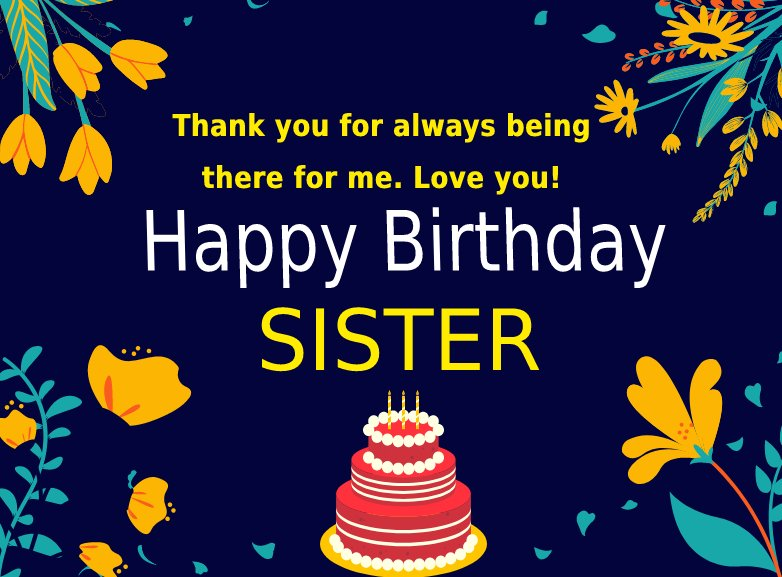 Simple Birthday Wishes for Sister