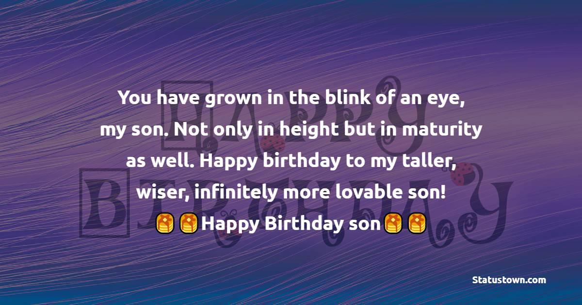 Birthday Status for Son