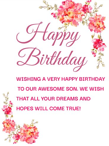 Touching Birthday Wishes for Son