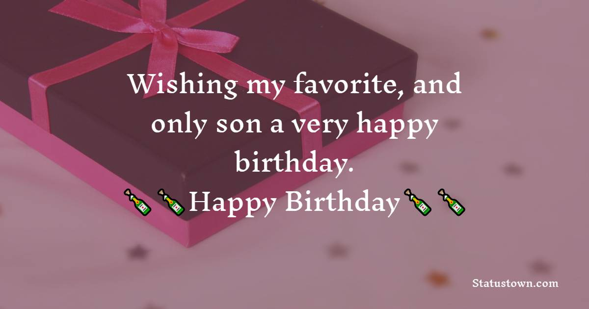 Short Birthday Wishes for Son