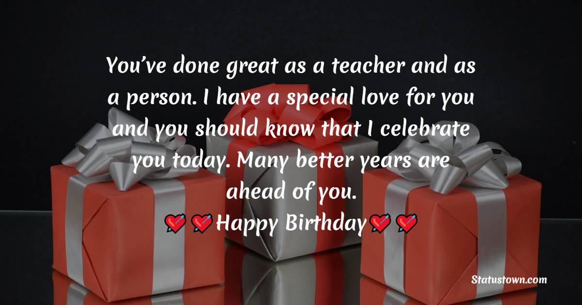 Birthday Wishes for Teacher