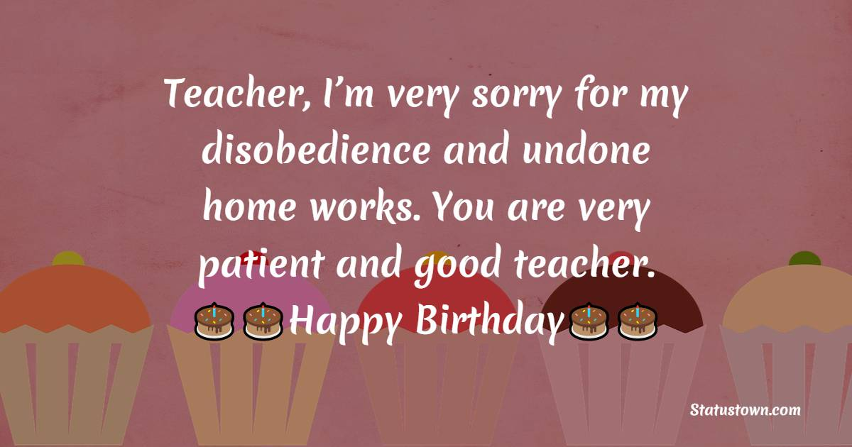 meaningful Birthday Wishes for Teacher