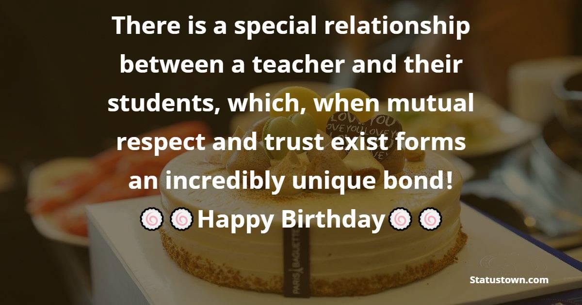 latest Birthday Wishes for Teacher