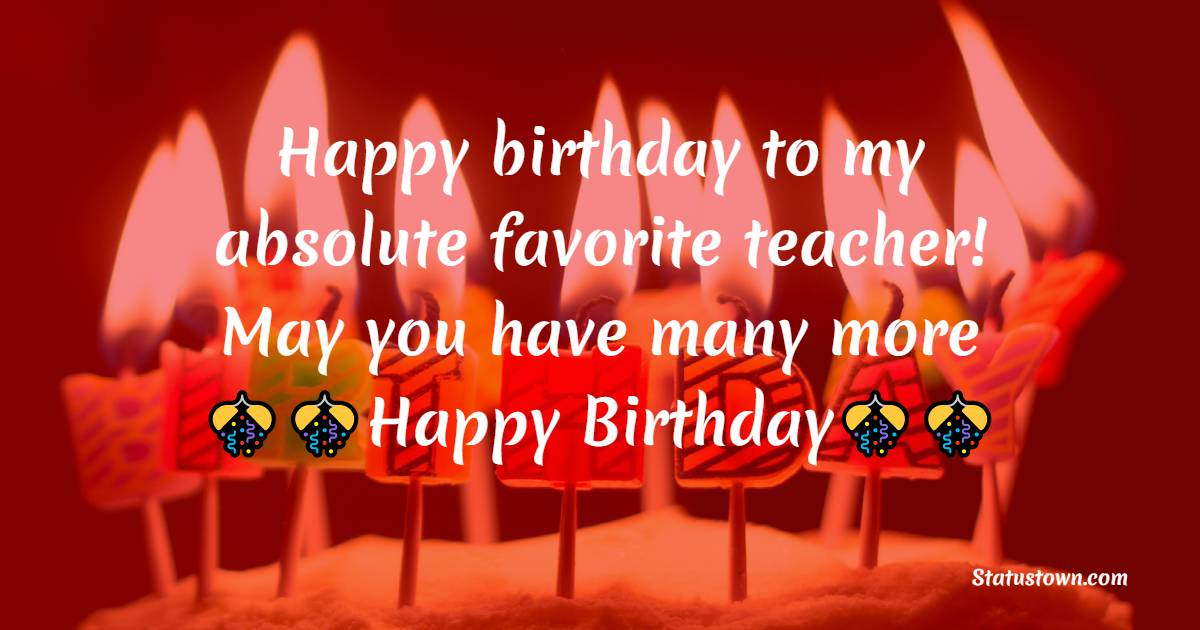 Simple Birthday Wishes for Teacher