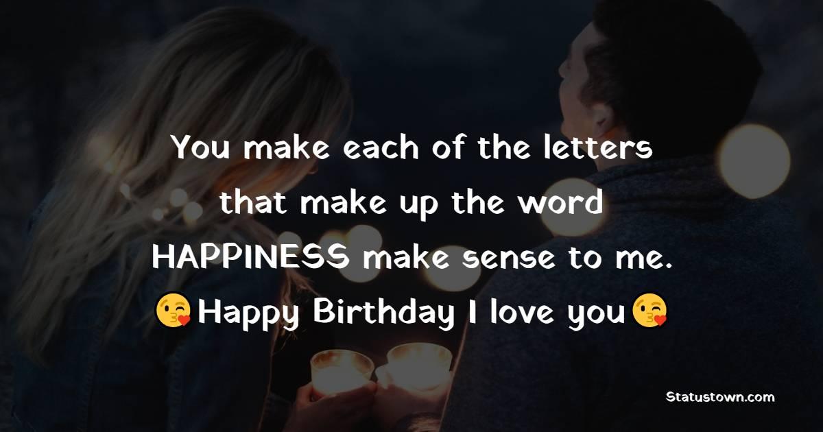 Touching Romantic Birthday Wishes