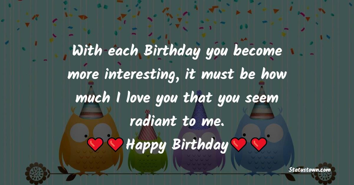 Simple Romantic Birthday Wishes
