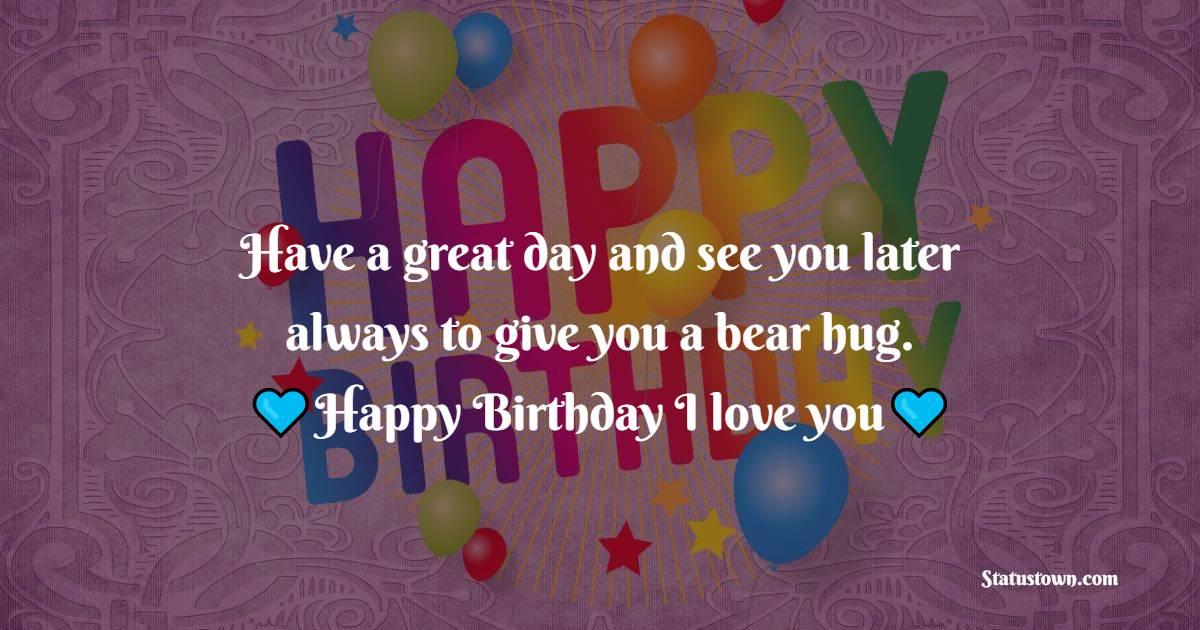 Short Romantic Birthday Wishes