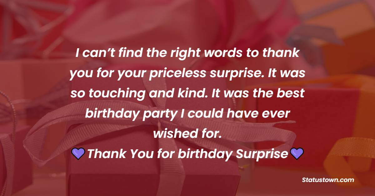 Thank You for Birthday Surprise