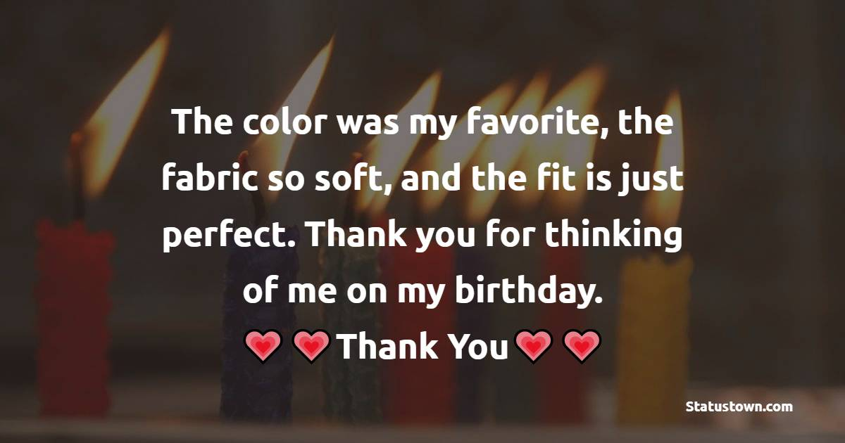 Simple Thank You for Birthday Surprise