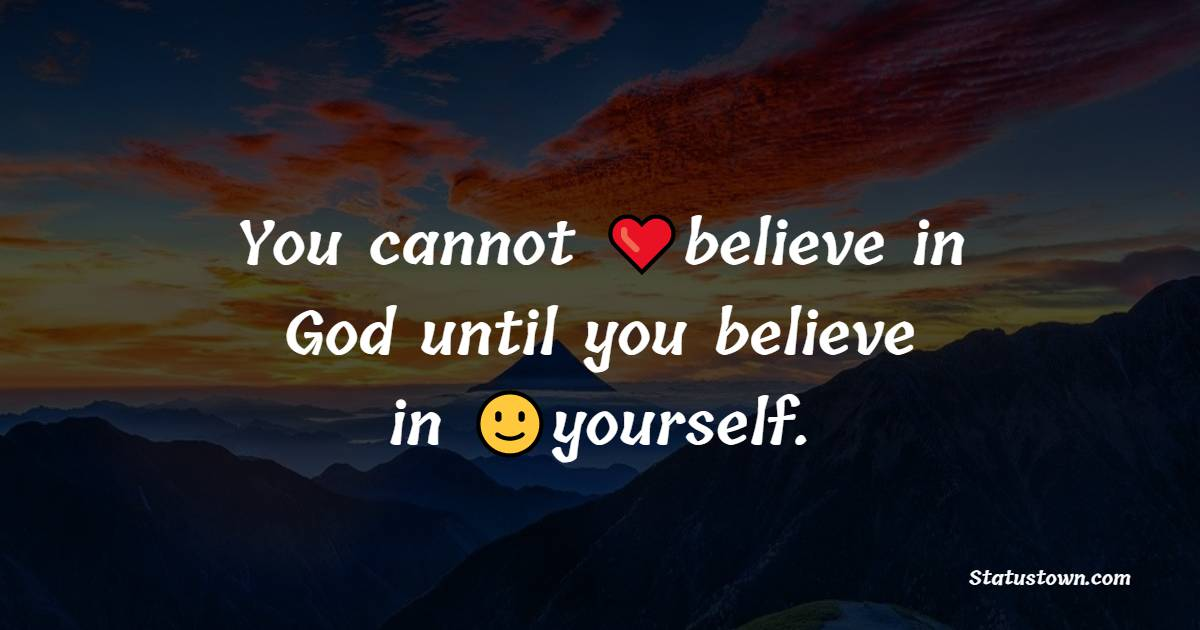 Heart Touching believe in yourself messages