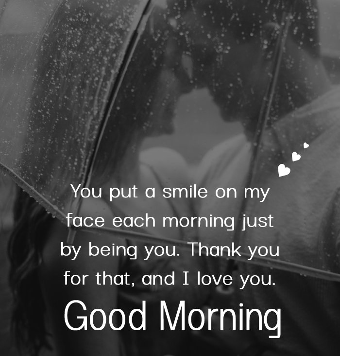 Simple good morning message for husband