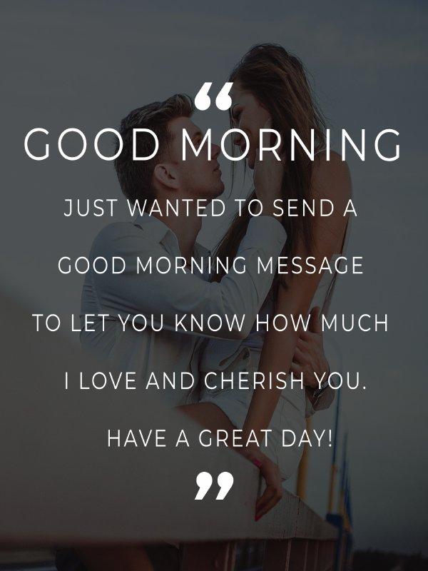 Short good morning message for husband