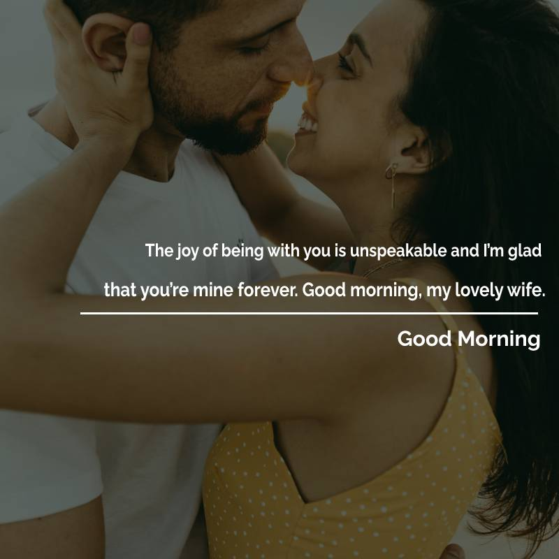 Deep good morning messages for wife