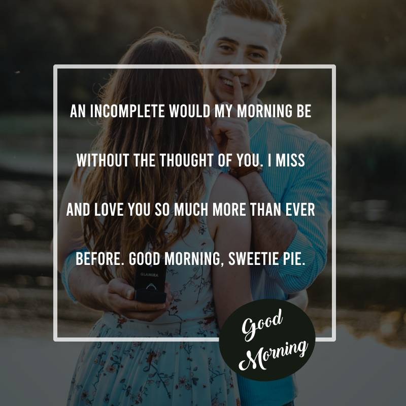 Touching good morning messages for wife