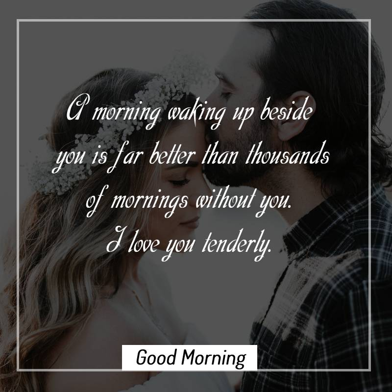 Simple good morning messages for wife
