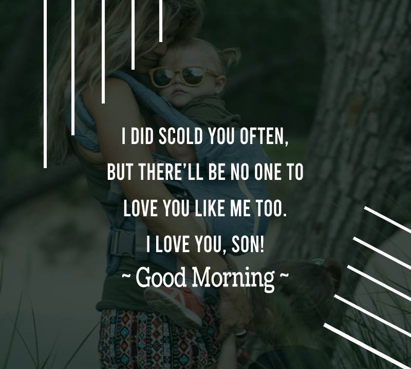 Simple good morning messages for son