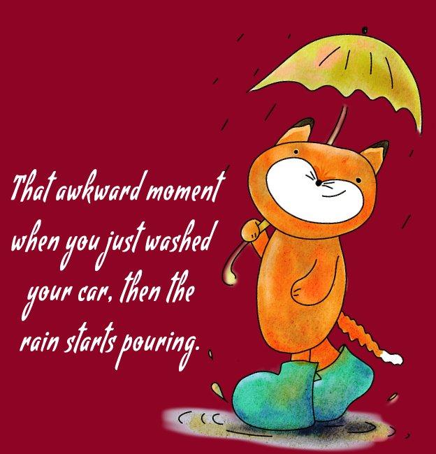 Heart Touching rain status