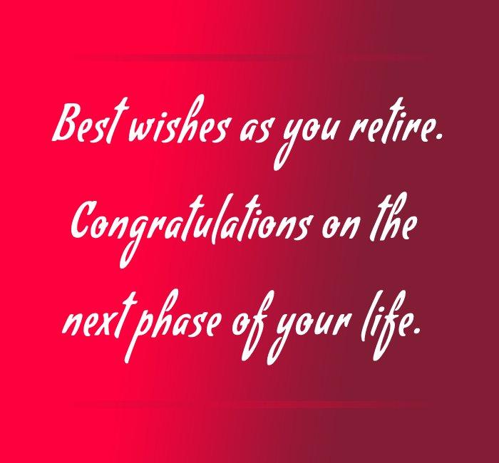 Best retirement messages