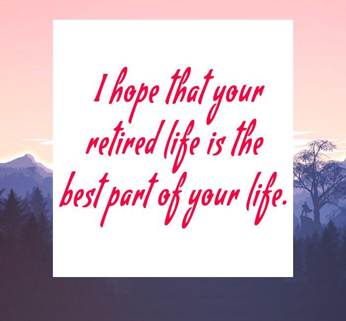Simple retirement messages
