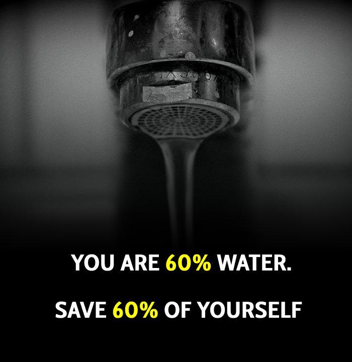Touching save water slogans