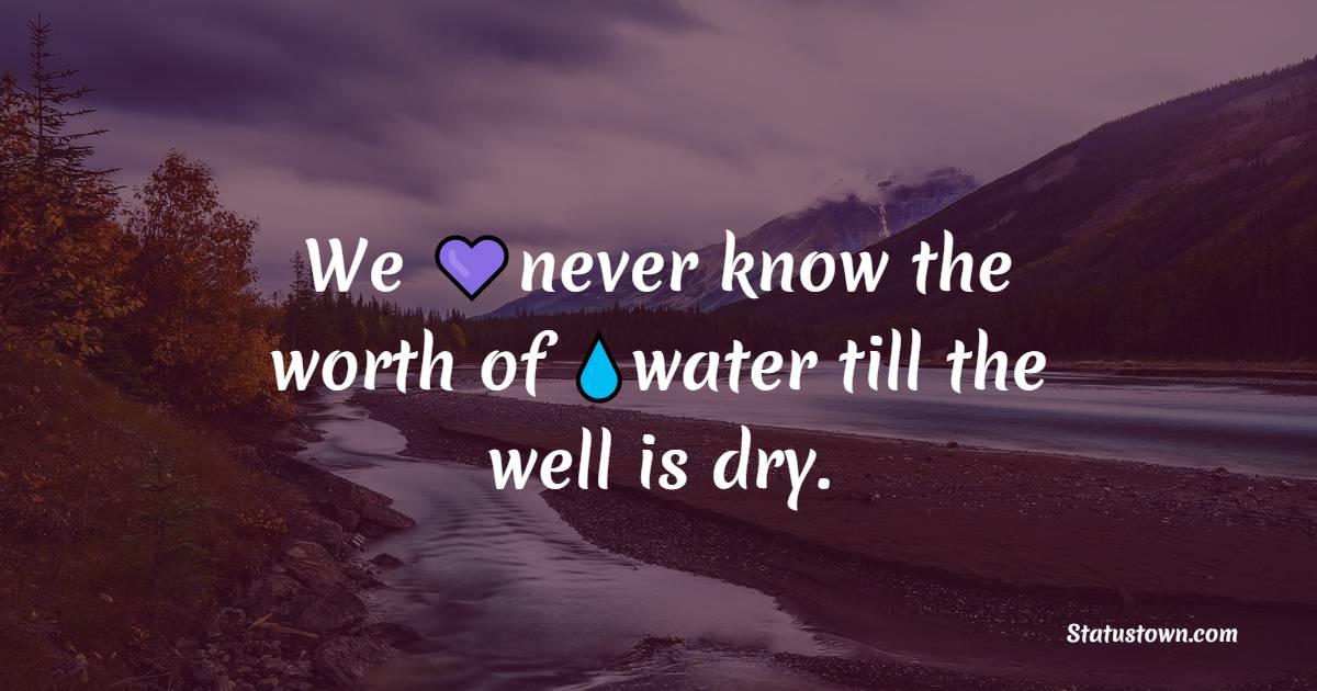 Amazing water quotes