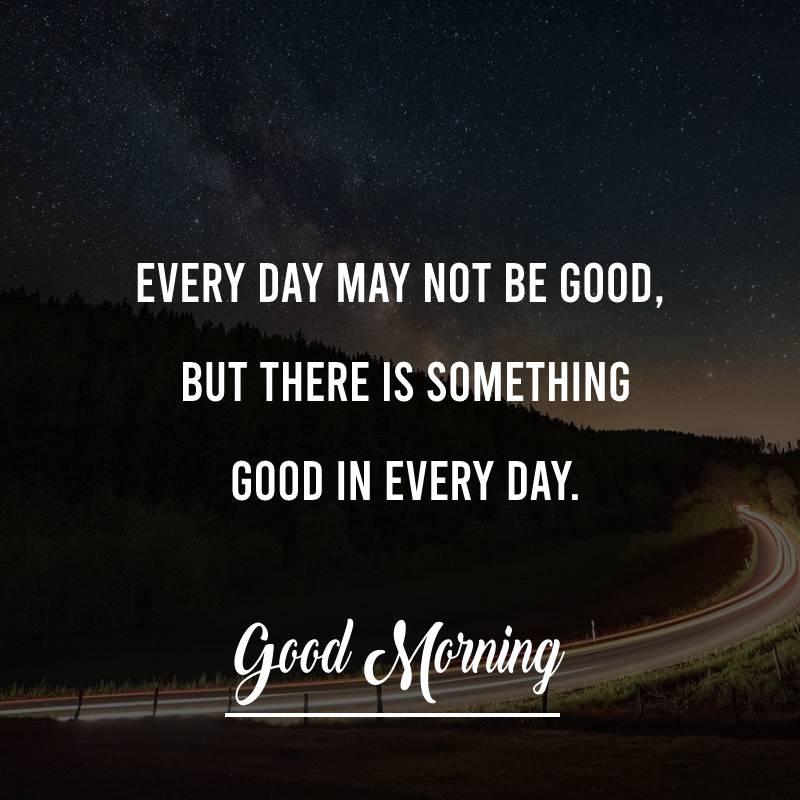 Touching good morning status