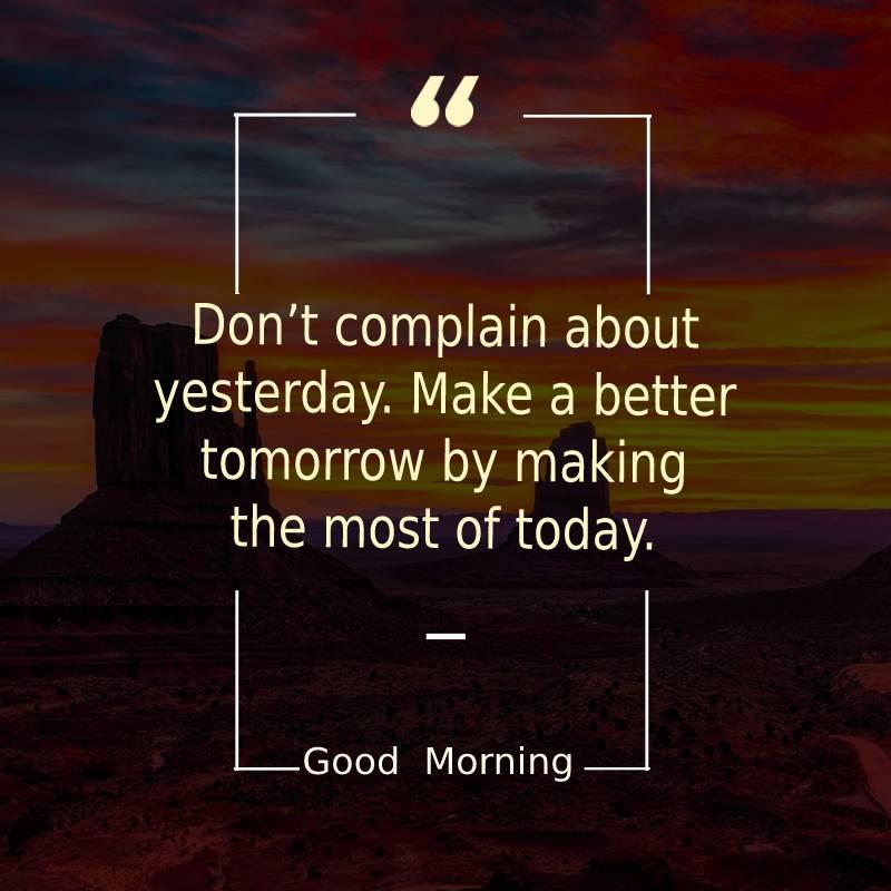 Simple good morning status