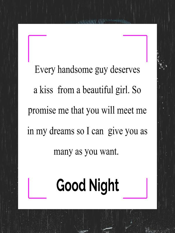 Touching good night messages for boyfriend