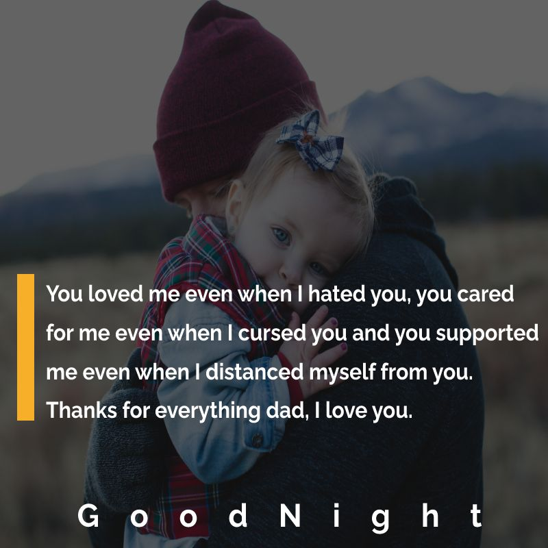 Touching good night messages for dad