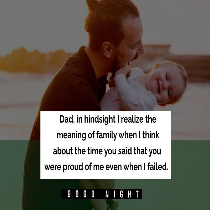 Sweet good night messages for dad
