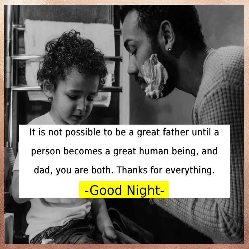 Amazing good night messages for dad