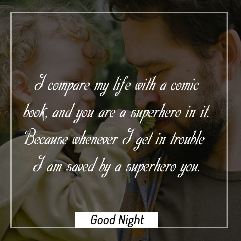 Best good night messages for dad