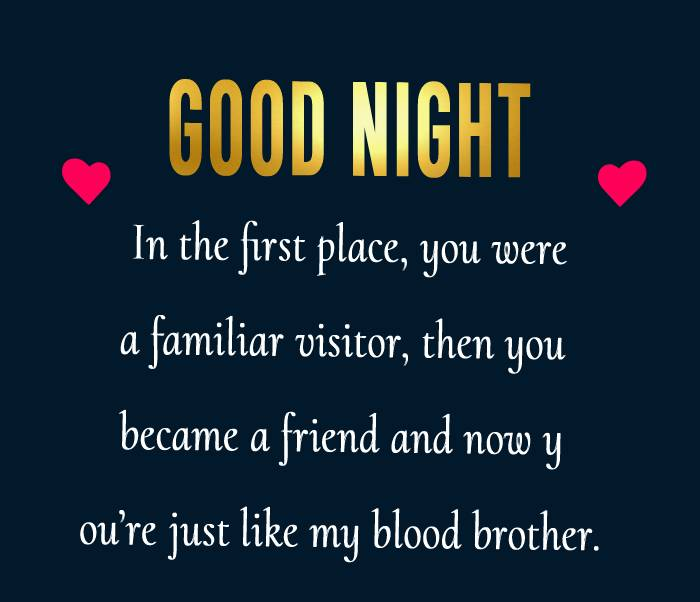 Touching good night messages for friends