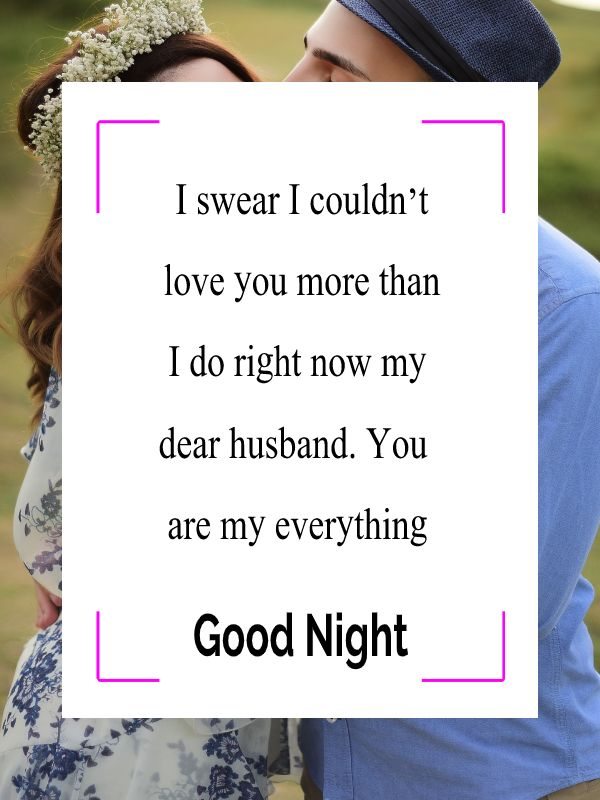 Sweet good night messages for husband