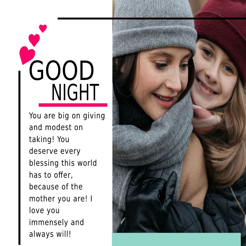 Deep good night messages for mom