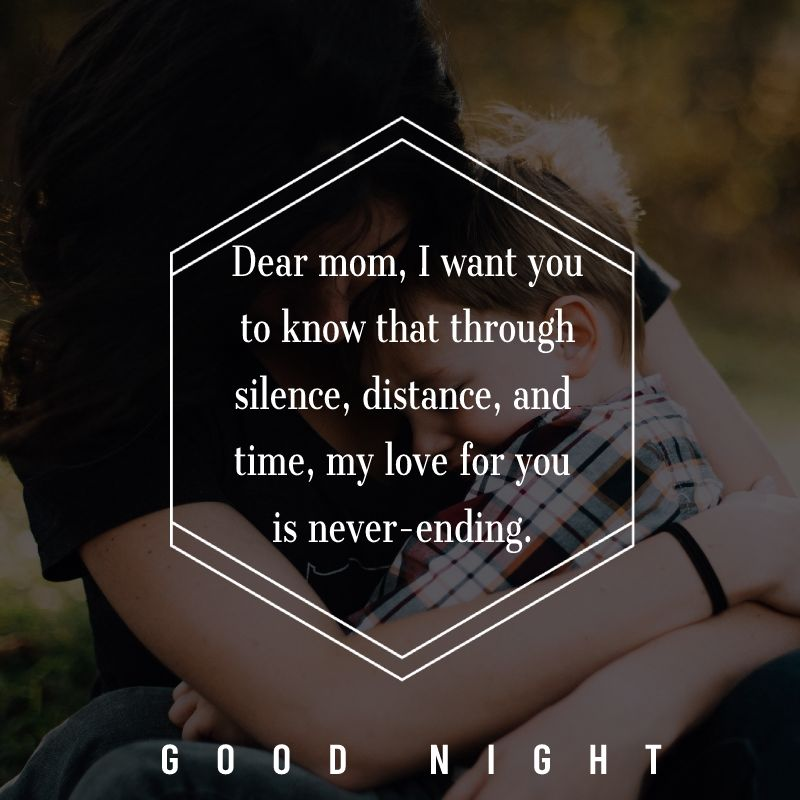 Touching good night messages for mom