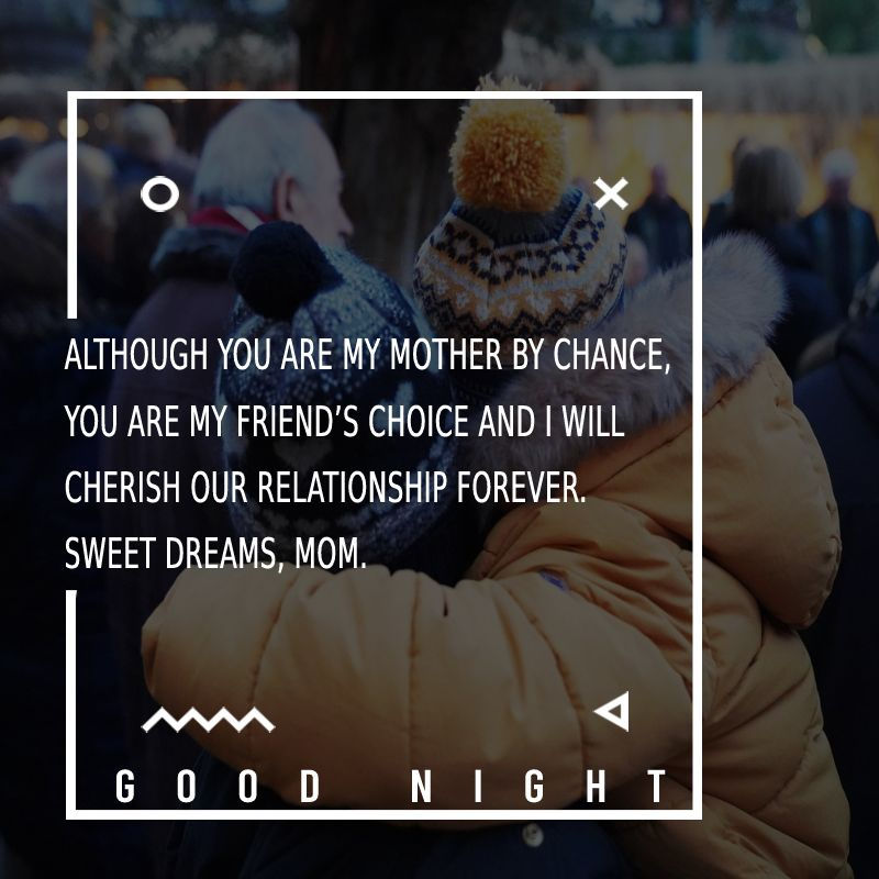 Short good night messages for mom