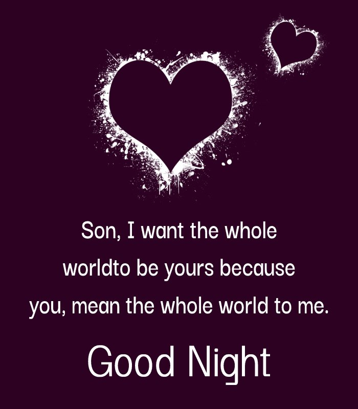 Heart Touching good night messages for son
