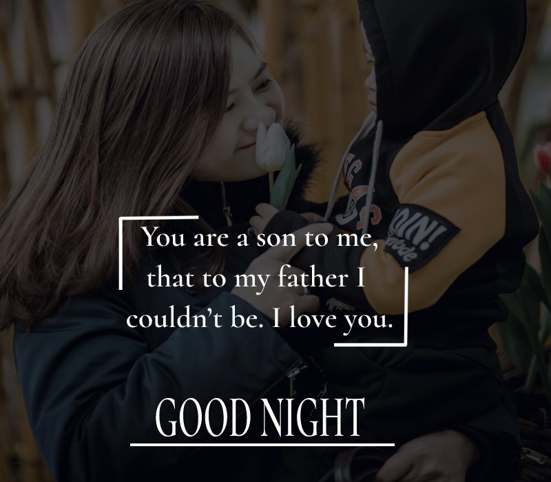 meaningful good night messages for son