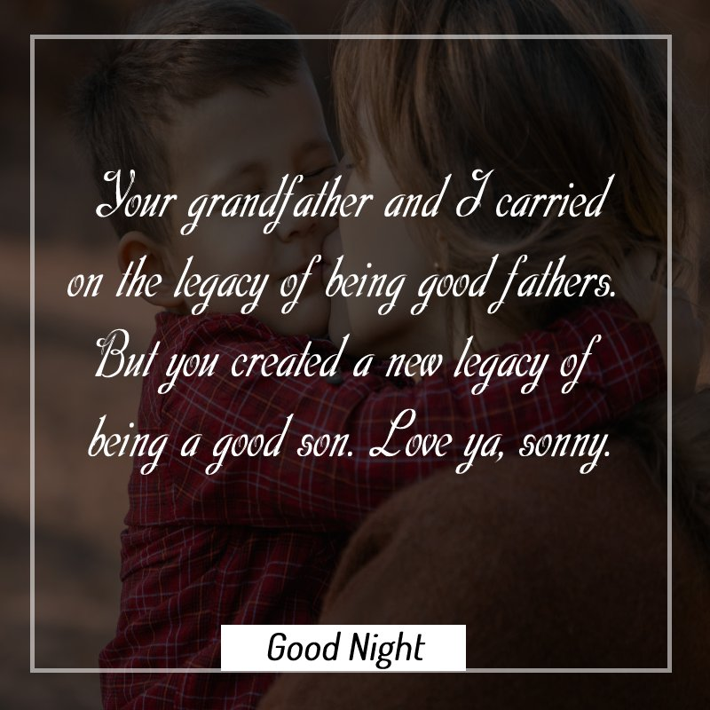 Sweet good night messages for son