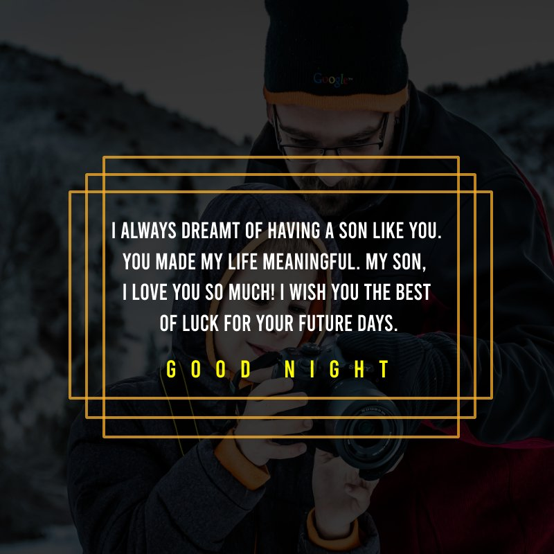 Unique good night messages for son