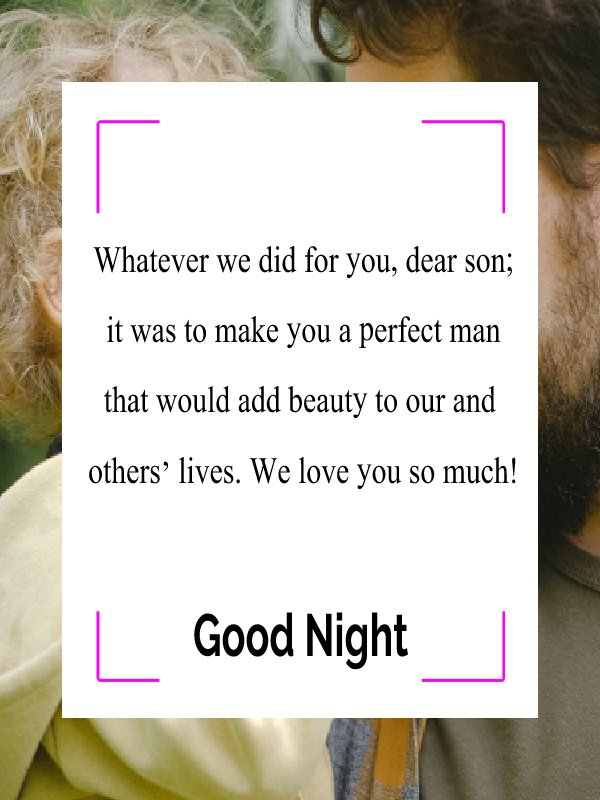 Best good night messages for son