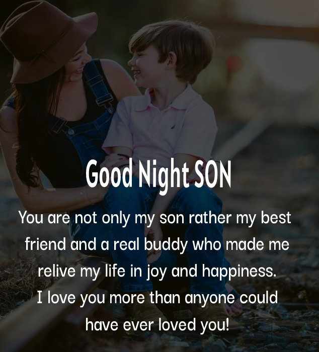 Simple good night messages for son